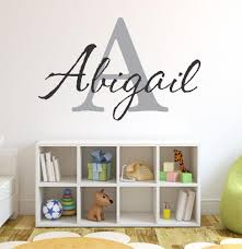 baby girl initial personalized custom name vinyl wall decal 36 w by 20 h
