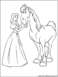Coloring Pages Disney Princess Coloring Pages Cinderella Horse