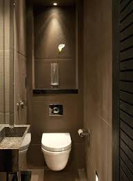 bathroom track lighting. Modern Track Lighting Masculine Guest Bathroom Design Ideas With Brown Color And
