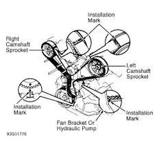 1993 lexus ls 400 engine mechanical problem 1993 lexus ls 400 suspect timing belt not aligned properly see diagram
