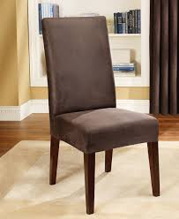 image of dining room chair slipcovers black