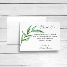 Personalized Sympathy Thank You Cards Funeral Thank You Cards Sympathy Acknowledgement Cards Bereavement