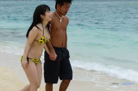Harsh Sex On The Beach With Young Japanese Bimbo