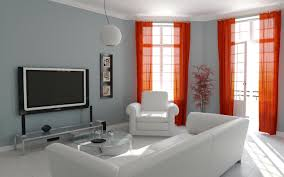 Orange Decorating For Living Room Orange Curtains Living Room Decor Rodanluo