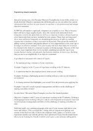 engineering resume objective anuvrat info resume examples electrical engineering objective resume resume