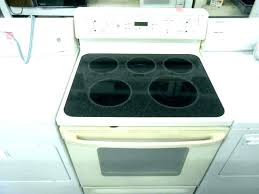 ge glass top stove burner not working smooth stoves ran cleaning flat self in