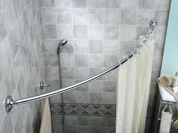 curved shower curtain image of best rod neverrust aluminum tension nickel zenna home design