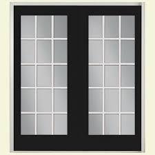 exterior french patio doors. 72 in. x 80 jet black fiberglass prehung left-hand inswing exterior french patio doors r