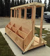 big rolling cart with free plans to wood