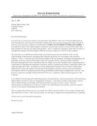 Simple Sample Cover Letter For Insurance Job With Additional