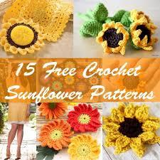 Free Sunflower Crochet Pattern