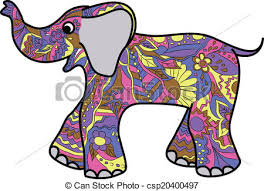 colorful elephant drawings. Brilliant Colorful Colorful Elephant  Csp20400497 With Elephant Drawings