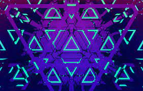 The Neon Triangles Wallpaper, HD ...