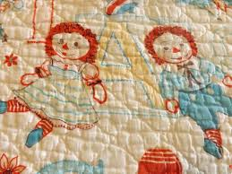 189 best raggedy ann and andy images on Pinterest | Crafts ... & Vintage Raggedy Ann and Andy Baby Crib Blanket Quilt Throw Doll Bedding |  eBay Adamdwight.com