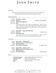 Resume Usa Enchanting Sample Resume Objectives For Entry Level Management Great Resumes
