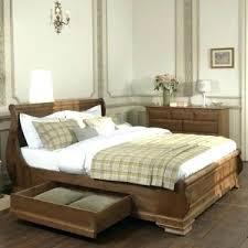 wooden sleigh bed handmade beds queen size wood cherry