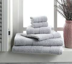 towel set 6 cotton 2 bath towels hand gray grey kitchen piece and washcloths machine washable