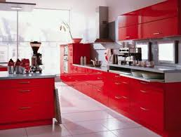 White Kitchen With Red Accents Red Kitchen Accents Classic Richly Stained Wood Cabinet Grey Soft