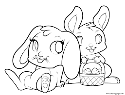 Bunny Coloring Pages Printables Cute 5 Futuramame