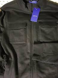 details about mens apt 9 new black fleece jacket 4 pockets long sleeve zip up large