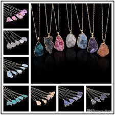 whole charming crystal quartz healing point chakra bead necklace pendant original natural gemstone pendant choker jewelry chains statement necklaces