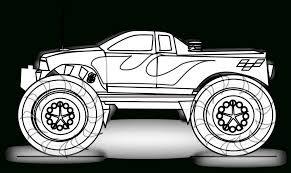 Free Printable Monster Truck Coloring Pages For Kids Birthday With