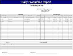 Daily Production Report Template Sample Work Pinterest