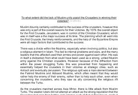 to what extent did the lack of muslim unity assist the crusaders  document image preview