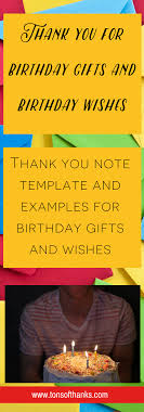 Thank You For The Birthday Wishes Thank You Note Examples For