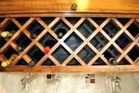 Lattice Wine Rack Plans Lattice Wine Rack Custom Made Spacing Free