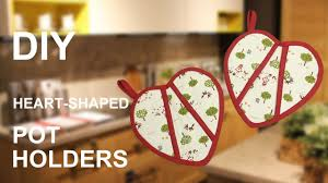 diy heart shaped pot holders easy tutorial sewing presents sewingtimes