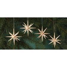 Christbaumschmuck Natur Große Weihnachtssterne 4 Teilig