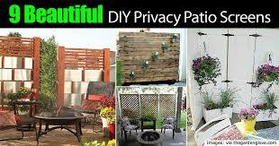 9 Beautiful DIY Patio Privacy Screens