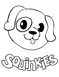 Small Picture Squinkies Dog Coloring Page H M Coloring Pages
