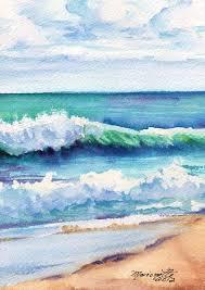 drawn sea landscape watercolor 4