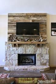 wood wall fireplace pallet fireplace surround wood