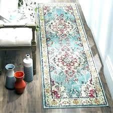 14 ft long runner rug modern outdoor rugs bohemian medallion blue pink distressed 4 x foot 14 ft long runner rug