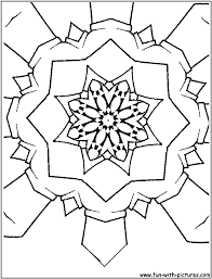 Free Coloring Pages Kaleidoscope Designs Free