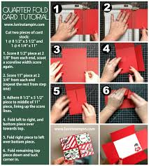 Quarter Cards How To Make A Quarter Fold Card Luvin Stampin