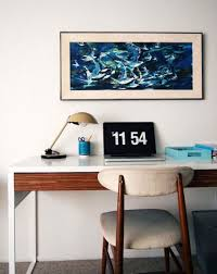 designer jonathan los weekend workspace in the san diego area finds order not only in its cleanliness but also its color scheme apartment home office