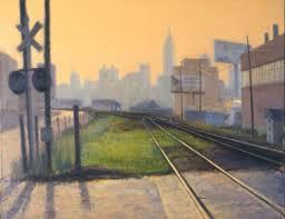railroad yard long island city by steven e walker fine art