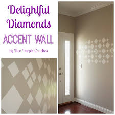 Small Picture Diamonds Accent Wall Cozy Wall Art Review two purple couches