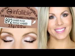 tutorial amber rush l oréal infallible eyeshadow