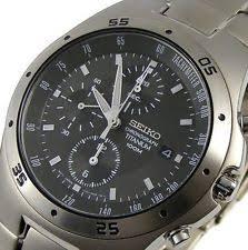 mens seiko titanium watches seiko men s titanium chronograph 100m watch snd419 snd419p1 warranty gift box