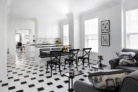 black and white tile floor living room. Beautiful Room Offset Black And White Tiles Keep This Monochrome Scheme From Being Too  Busy Intended Black And White Tile Floor Living Room N