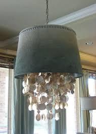 diy drum chandelier chandelier extraordinary shell chandeliers seashell chandelier drum chandelier with shell curtain gray wall diy drum chandelier