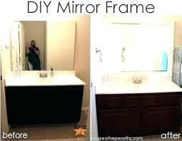 diy bathroom mirror frame ideas. Diy Bathroom Mirror Frame Ideas Borders M