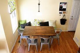 Wooden and metal chairs Custom Steel Wood Table With Metal Chairs Stagger Excellent Kitchen Banquette Seating Comes White Wooden Decorating Ideas 35 The Home Depot Wood Table With Metal Chairs Citizenhuntercom