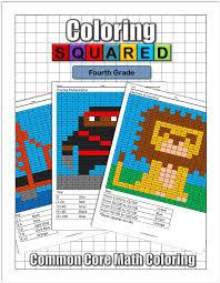 4th Grade Math Coloring Squared
