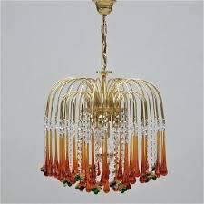 vintage murano glass chandelier vintage teardrop and fruit glass chandelier 1 vintage murano glass chandelier parts